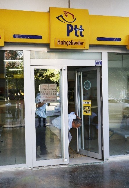 Açık unutulan PTT şubesinin kapısı polisi alarma geçirdi