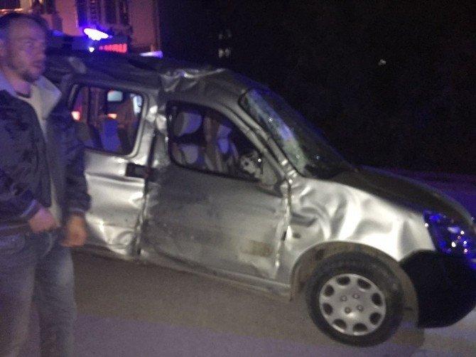 Bilecik'te ilginç kaza, 3 yaralı