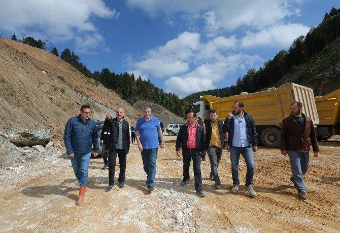 Akçay Barajı'nda çalışmalar devam ediyor