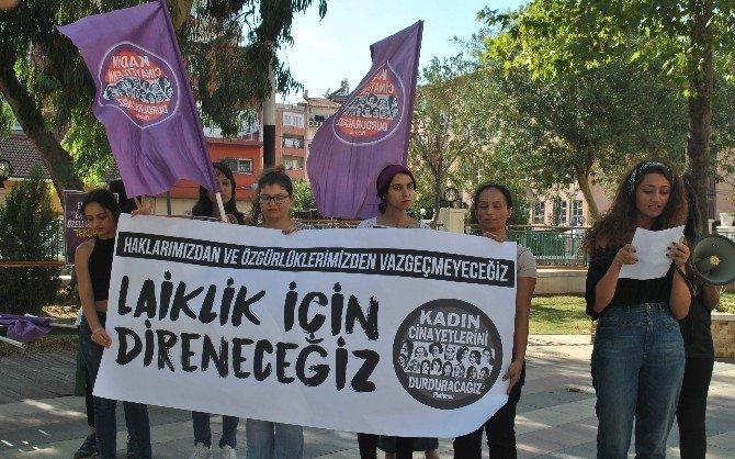 """Kadın Cinayetlerini Durduracağız Platformu'ndan """"direneceğiz"""" eylemi"""