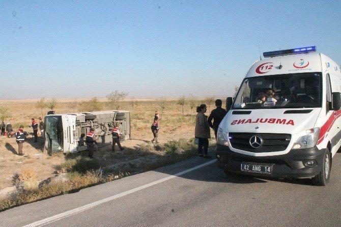 Konya'da düğün yolunda kaza: 26 yaralı