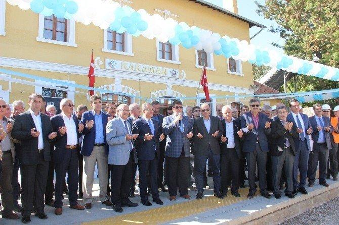 Karaman-Konya hızlı tren hattının elektrifikasyon sisteminin temeli atıldı