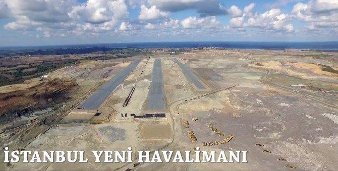 Üçüncü havalimanının ilk pisti tamamlanmak üzere