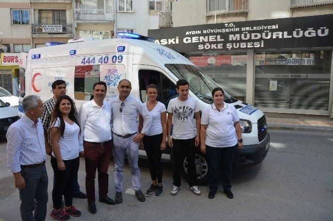 Aydın Büyükşehirin hasta nakil araçlarından biri Söke'ye