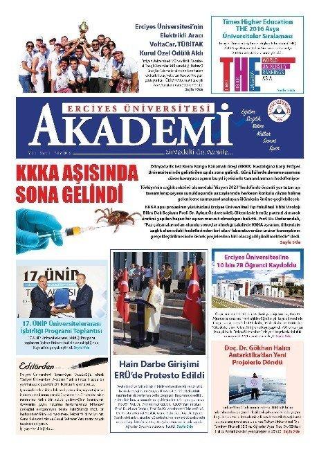 Erciyes Üniversitesi akademi gazetesinin ilk sayısı çıktı