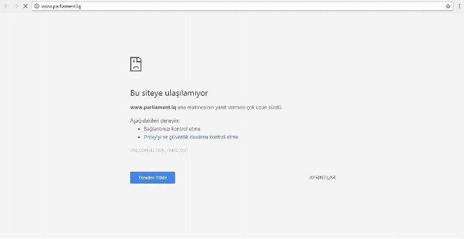 Türk Hackerlar, Irak Meclisi'nin internet sitesini çökertti