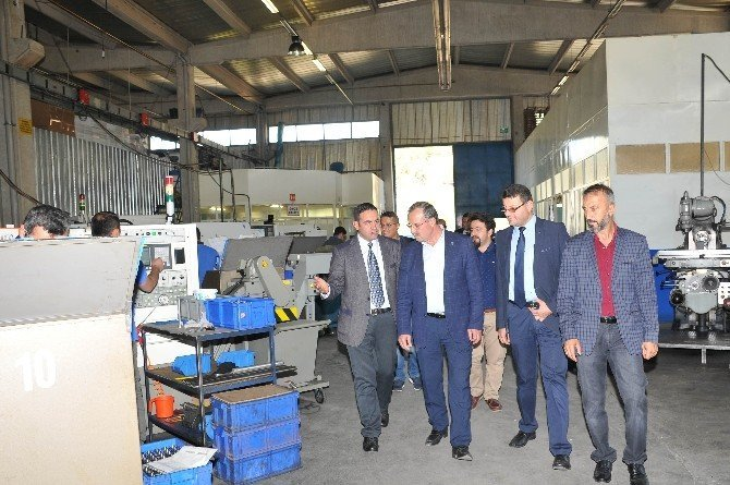 KSO Başkanı Kütükcü, Huğlu'daki silah üreticileriyle buluştu