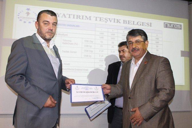 TÜMSİAD devlet destekleriyle ilgili bilgilendirme toplantısı yaptı