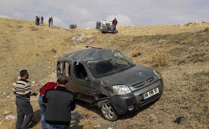 Haymana'da otomobil şarampole yuvarlandı: 5 yaralı