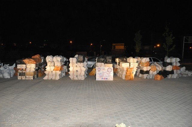 TIR dorsesinde 185 bin paket kaçak sigara ele geçirildi
