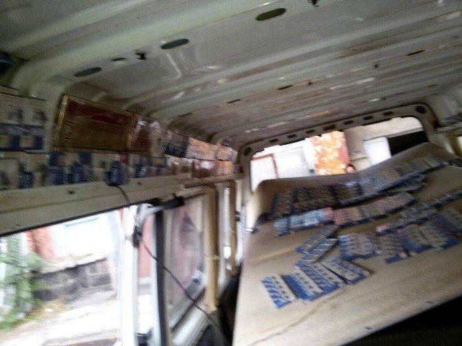 3 bin 900 paket kaçak sigara yakalandı