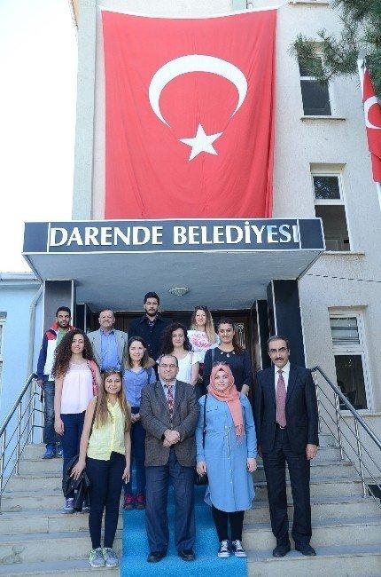 Amasya Üniversitesi öğrencileri Darende'de çalışma yaptı