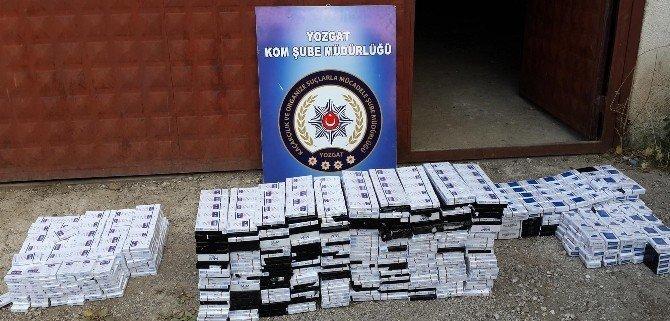 Yozgat'ta 2 bin 250 paket kaçak sigara ele geçirildi
