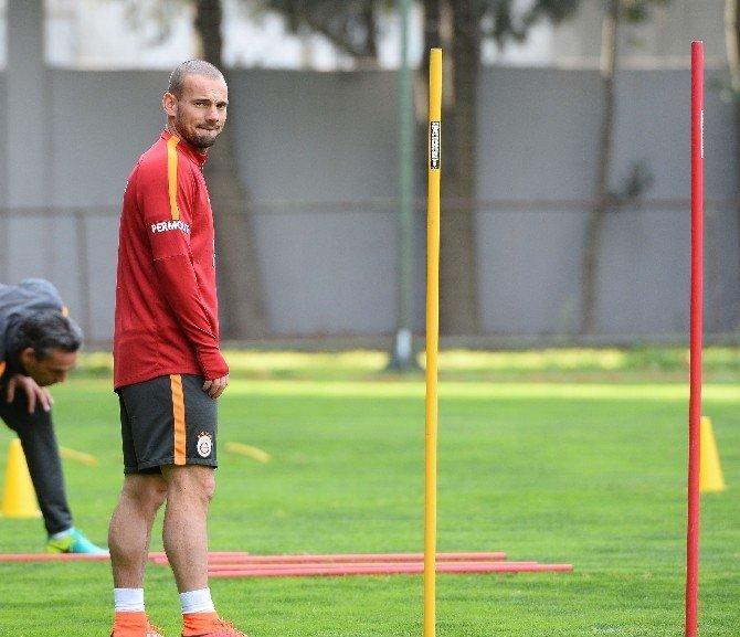 Galatasaray, Fenerbahçe derbisi hazırlıklarını sürdürdü