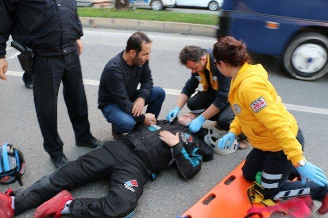 İlacını almayı unutunca motosikletiyle kaza yaptı