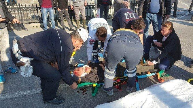 Otomobilin çarptığı yaşlı adam ağır yaralandı
