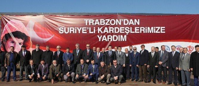 Trabzon'dan Suriyeli mülteciler için yardım TIR'ları yola çıktı