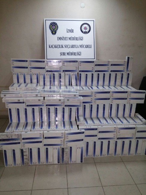 196 bin liralık kaçak sigara ele geçirildi