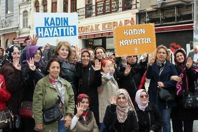 AK Partili Kadınlar kadına şiddete karşı yürüdü