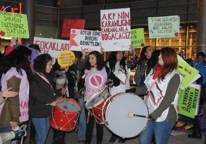 Eskişehirli kadınlardan şiddet protestosu