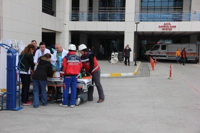 400 yataklı devlet hastanesinde 6.5'luk deprem tatbikatı