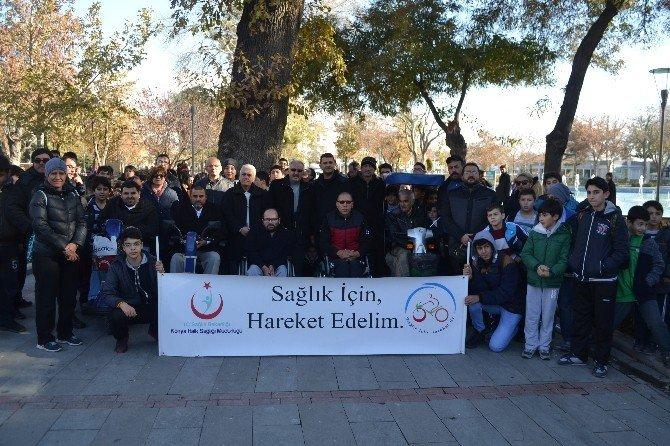 Konya'da sağlık yürüyüşü gerçekleştirildi