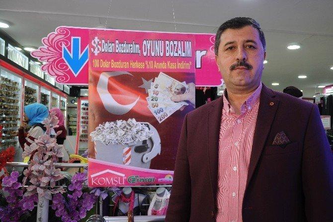 Mersinli esnaflardan 'dolarını bozdur' kampanyası