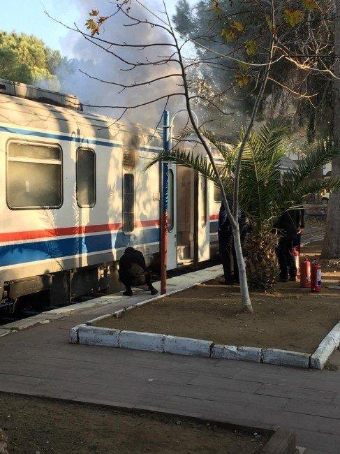 İzmir'de yolcu treninde yangın