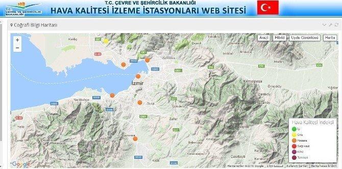 """İzmir'in havası hala çok """"Hassas"""""""
