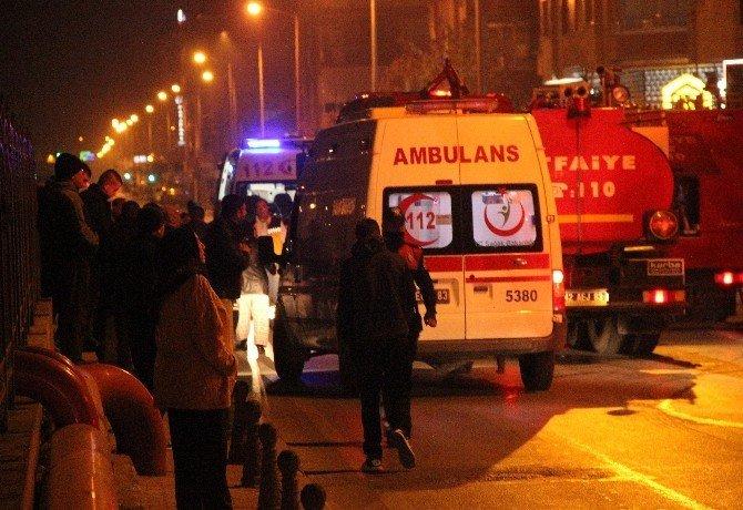 Konya'daki yangında korku dolu anlar!