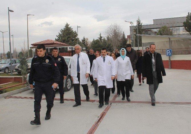 Doktorlardan polise destek ziyareti
