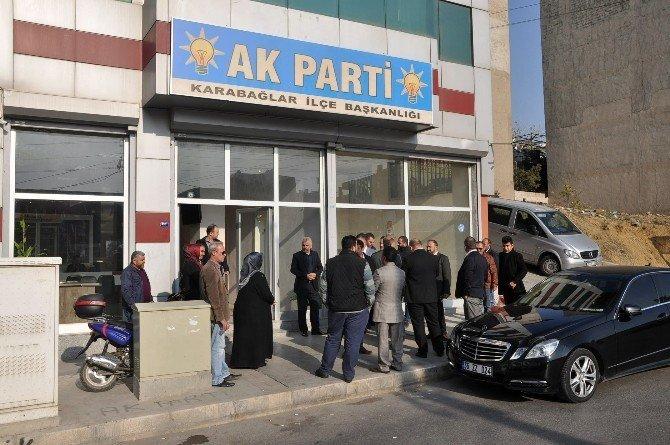 AK Parti binasına silahla saldıran şüpheli yakalandı
