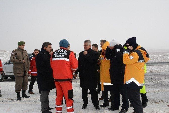 Aksaray'da 36 araç birbirine girdi: 41 yaralı