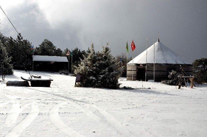 Eskişehir'den kartpostallık kar manzaraları