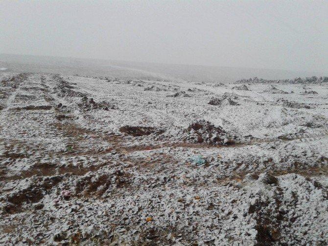Kilis'e mevsimin ilk karı düştü