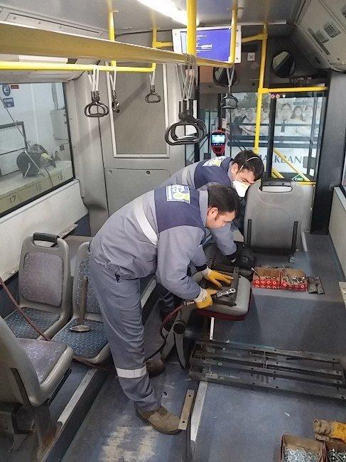 EGO otobüslerinde koltuklar yenileniyor