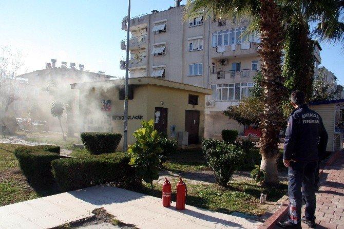 Antalya'da trafo yangını