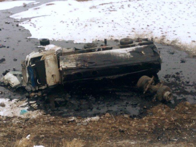 Iğdır'da tanker devrildi: 1 ölü 2 yaralı