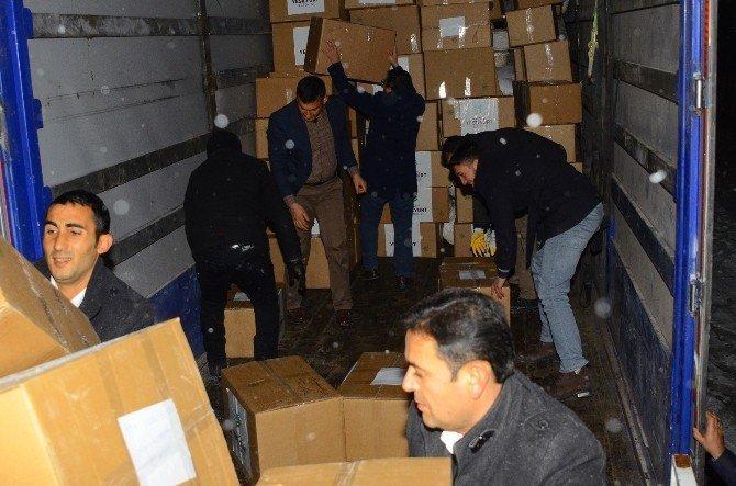 Geri dönüşüm evlerinden toplanan yardımlar Halep'e gönderildi