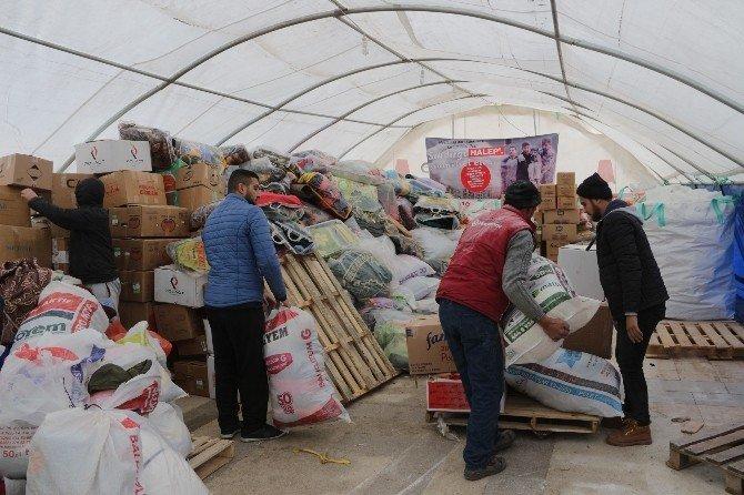 Halep'e yardım çığ gibi büyüyor