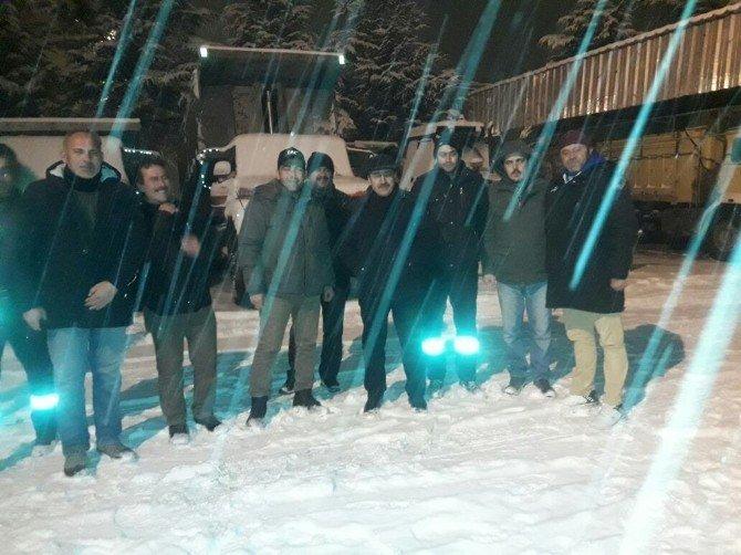 Seydişehir Belediyesi'nde kar mesaisi