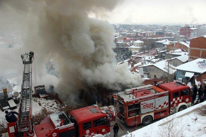 Kütahya'daki yangında soğutma çalışmaları sona erdi