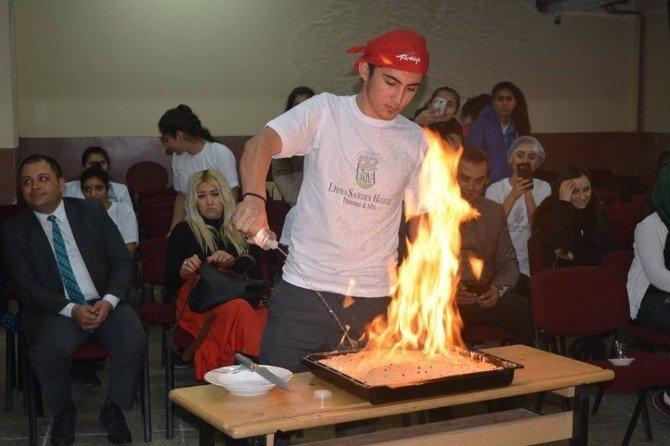 Salihli'de öğrenciler arası yemek yarışması