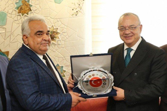 Kooperatif başkanlarından Başkan Ergün'e plaket