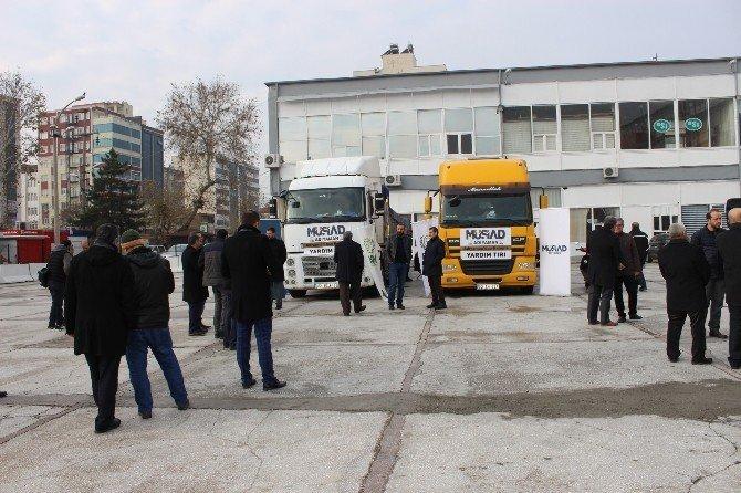 Adıyaman'dan Suriye'ye 2 tır dolusu yardım gönderildi