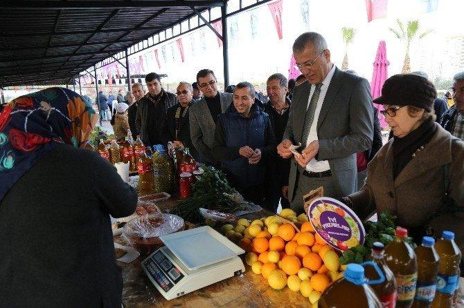 Mezitli'de 5. Kadın Üretici Pazarı açıldı