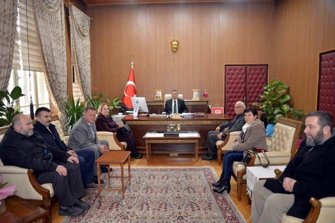 STK temsilcilerinden Vali Elban'a ziyaret