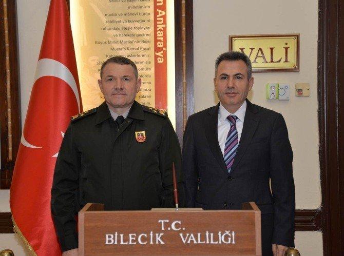Jandarma Genel Komutan Yardımcısı Lapanta'dan Vali Elban'a ziyaret