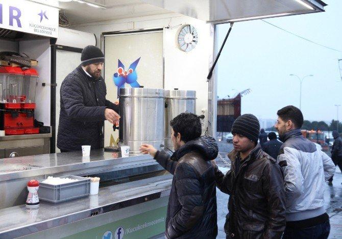 Soğuk kış günlerinde içleri ısıtan hizmet