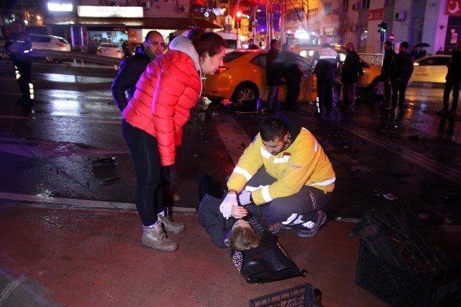 Ehliyetsiz sürücü yeni yıla saniyeler kala dehşet saçtı: 6 yaralı